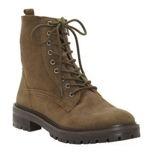 Lucky Brand Women's Idara Military Green Boots 10